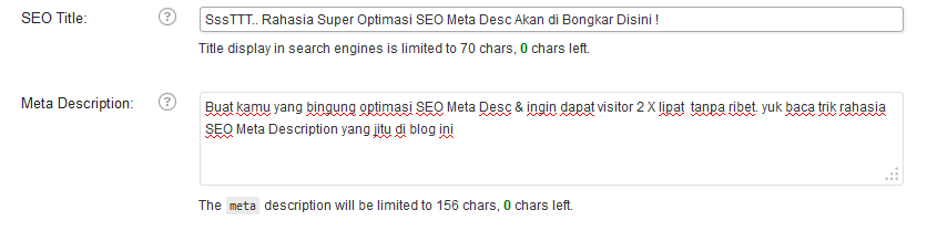 Optimasi SEO Meta Description