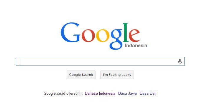 Google.co.id berbahasa Inggris