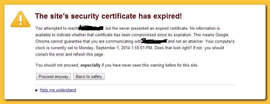 https SSL certificate error