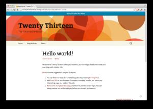 contoh tampilan blog